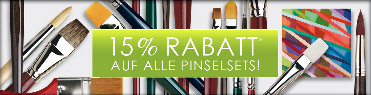 15% auf Pinselsets
